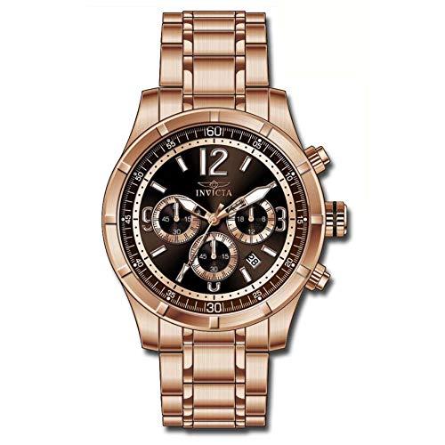 インヴィクタ インビクタ 腕時計 メンズ Invicta Specialty Classic Chronograph Brown Dial Rose Gold-tone Mens Watch 11378インヴィクタ インビクタ 腕時計 メンズ