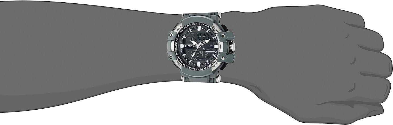 タイメックス 腕時計 メンズ Timex Men's TW5M22600 Tactic DGTL Big Combo Dark Gray/Negative Resin Strap Watchタイメックス 腕時計 メンズ