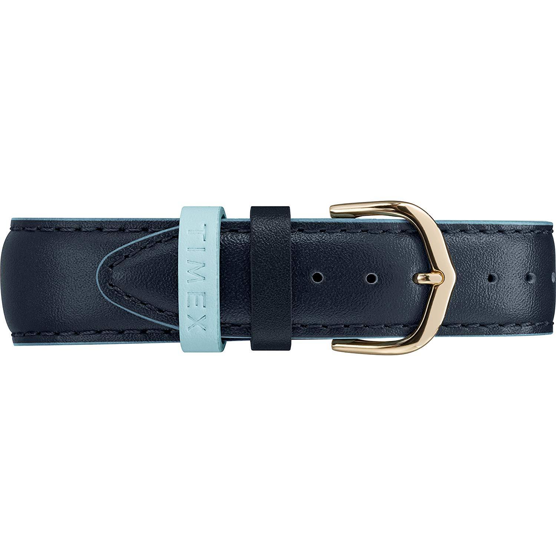 タイメックス 腕時計 レディース Timex Women's TW2R62600 Easy Reader 38mm Blue/Gold-Tone Leather Strap Watchタイメックス 腕時計 レディース