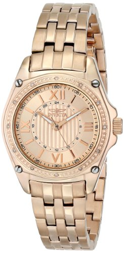 """インヴィクタ インビクタ 腕時計 レディース Invicta Women's 16325 """"ANGEL"""" Diamond-Accented 18k Rose Gold Ion-Plated Bracelet Watchインヴィクタ インビクタ 腕時計 レディース"""