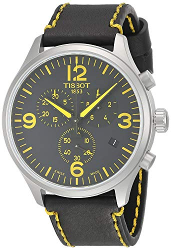 ティソ 腕時計 メンズ Tissot Chrono XL Tour de France 2018 Black Yellow Leather Watch T1166171605701ティソ 腕時計 メンズ