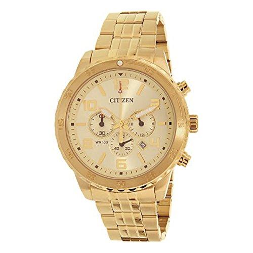 シチズン 逆輸入 海外モデル 海外限定 アメリカ直輸入 Citizen Chronograph Gold Dial Men's Watch - AN8132-58Pシチズン 逆輸入 海外モデル 海外限定 アメリカ直輸入