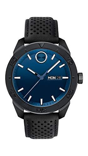モバード 腕時計 メンズ Movado Men's Bold Sport Black PVD Watch with a Printed Index Dial, Blue/Black (Model 3600495)モバード 腕時計 メンズ