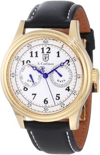 S.Coifman(コイフマン) 腕時計 メンズ S. Coifman Men's SC0277 White Dial Black Leather WatchS.Coifman(コイフマン) 腕時計 メンズ