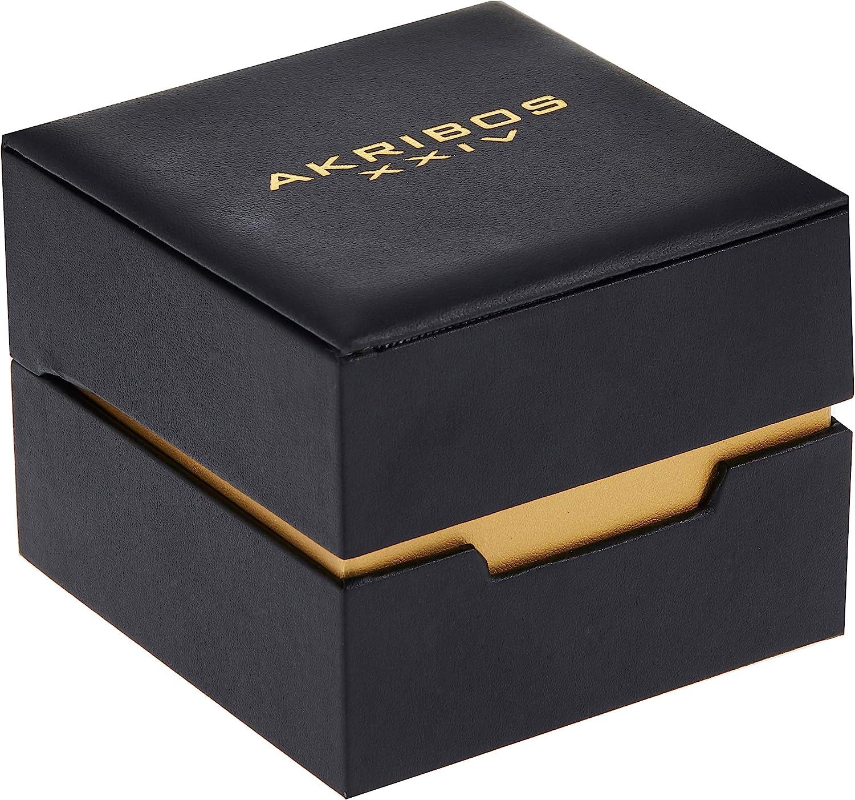 アクリボスXXIV 腕時計 メンズ Akribos XXIV Stainless Steel Men's Watch ? Silver Tone Link Bracelet Strap, Date and 24 Hour Displays, Crystal Covered Bezel, Blue Dial - AK1055SSBUアクリボスXXIV 腕時計 メンズ