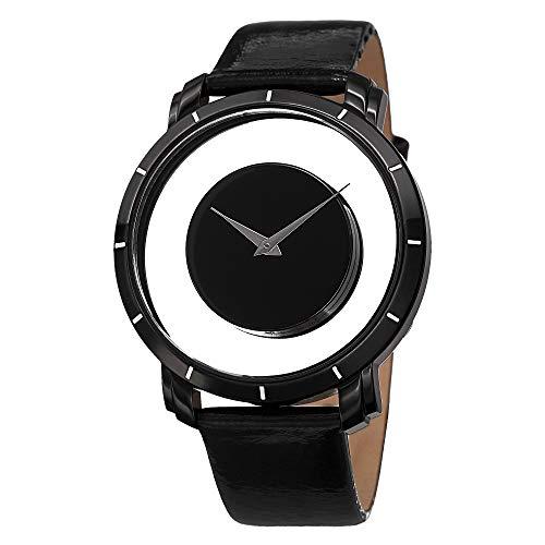 腕時計, メンズ腕時計  XXIV Akribos XXIV Spacely Floating Watch - Shatter-Proof Krysterna Crystal Black Quartz Mens Watch - AK412 XXIV