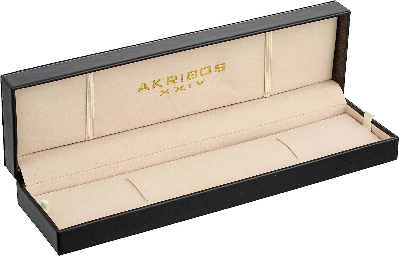 """アクリボスXXIV 腕時計 メンズ Akribos XXIV Men's AK732 """"Bravura"""" Automatic Skeleton Dial Stainless Steel Watch with Mesh Bracelet (Rose Gold)アクリボスXXIV 腕時計 メンズ"""