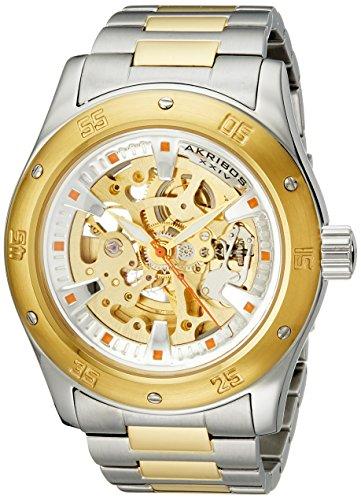 アクリボスXXIV 腕時計 メンズ Akribos XXIV Men's AK477TTG Premier Skeleton Automatic Gold Two-Tone Stainless Steel Bracelet WatchアクリボスXXIV 腕時計 メンズ