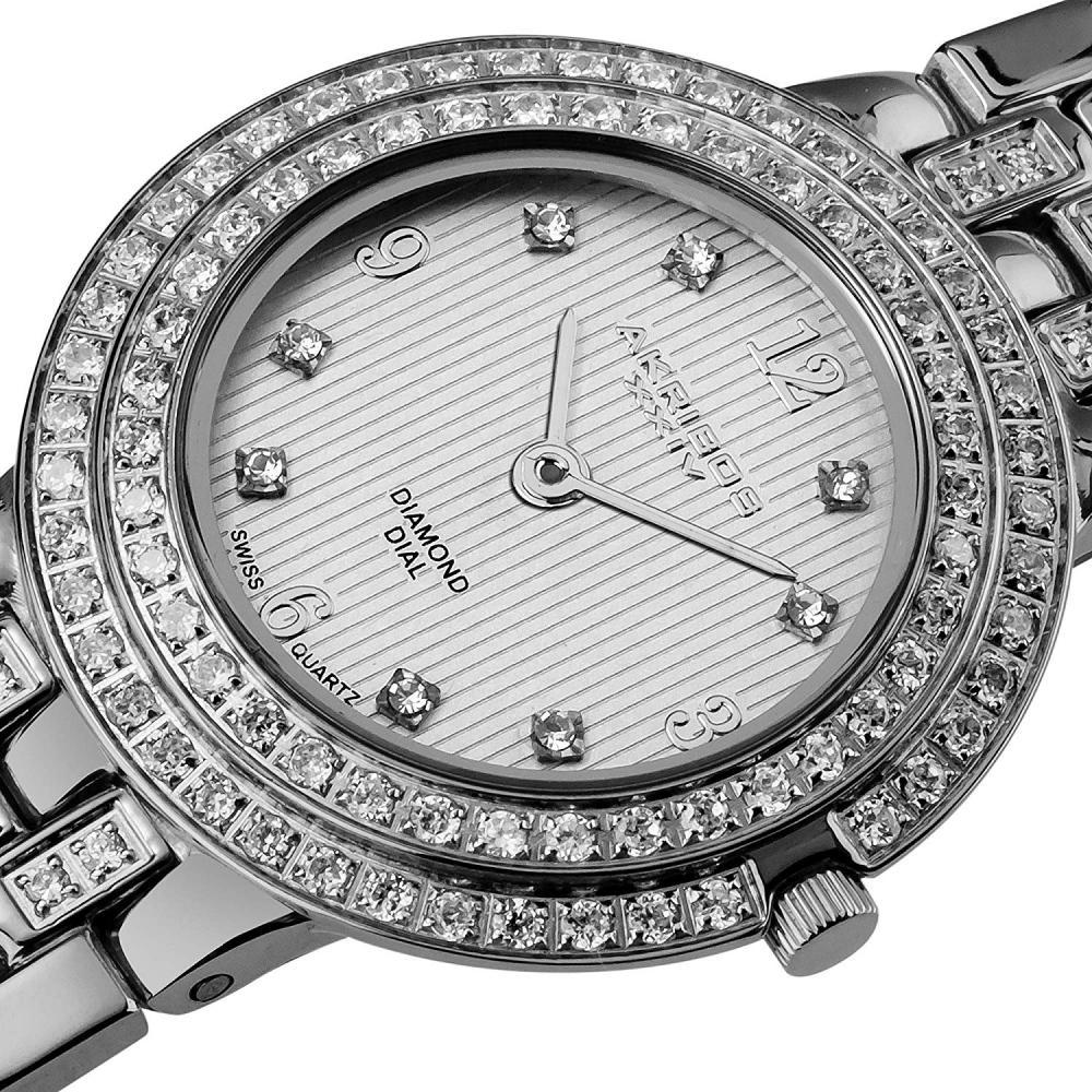 アクリボスXXIV 腕時計 レディース Akribos XXIV Women's AK598SS Impeccable Diamond Swiss Quartz Bracelet WatchアクリボスXXIV 腕時計 レディース