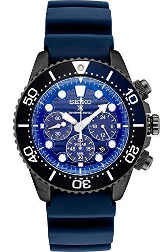 セイコー 腕時計 メンズ 夏のボーナス特集 Seiko Prospex SSC701 Special Edition Blue Silicone Solar Powered Diver's Chronograph Watchセイコー 腕時計 メンズ 夏のボーナス特集