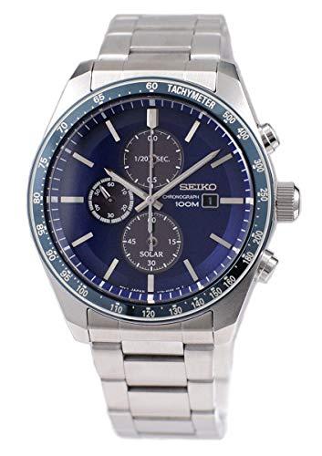 腕時計, メンズ腕時計  Seiko Solar Mens Analog Solar Watch with Stainless Steel Bracelet SSC719P1