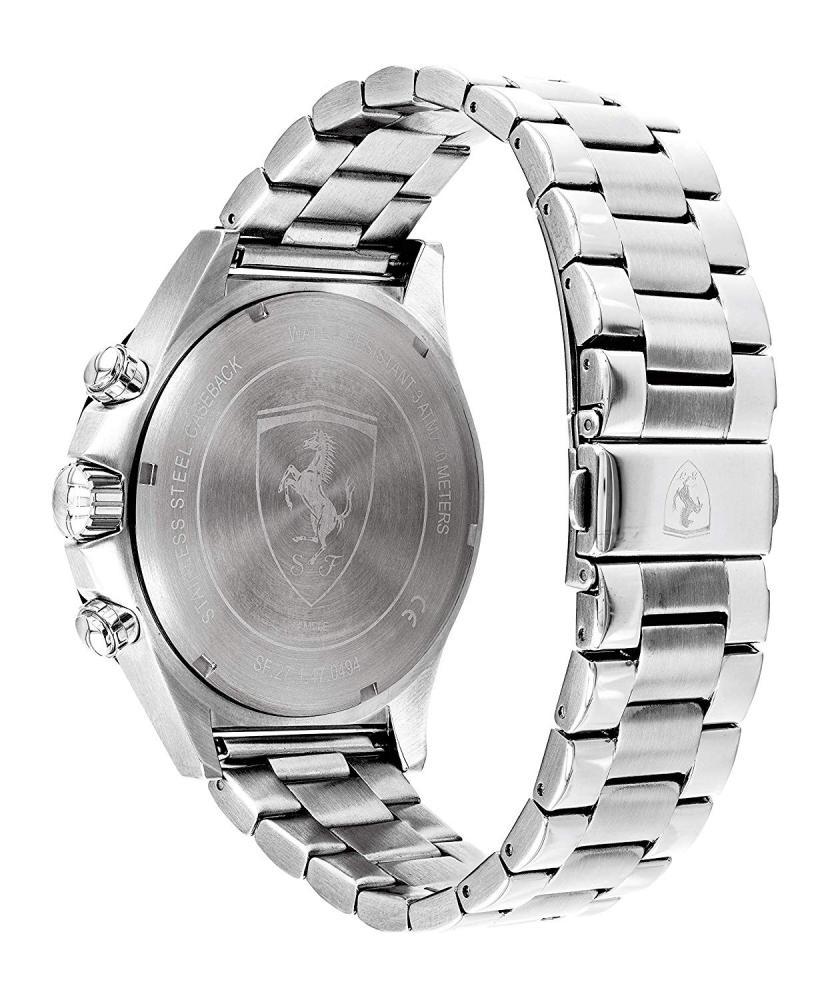フェラーリ 腕時計 メンズ Ferrari Men's Pilota Quartz Stainless Steel and Bracelet Casual Watch, Color: Silver (Model: 830598)フェラーリ 腕時計 メンズ