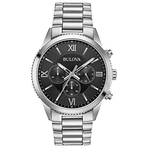 ブローバ 腕時計 メンズ Bulova Men's Classic Quartz Chronograph Gray Dial Stainless Steel 42mm Watch (Model: 96A212)ブローバ 腕時計 メンズ
