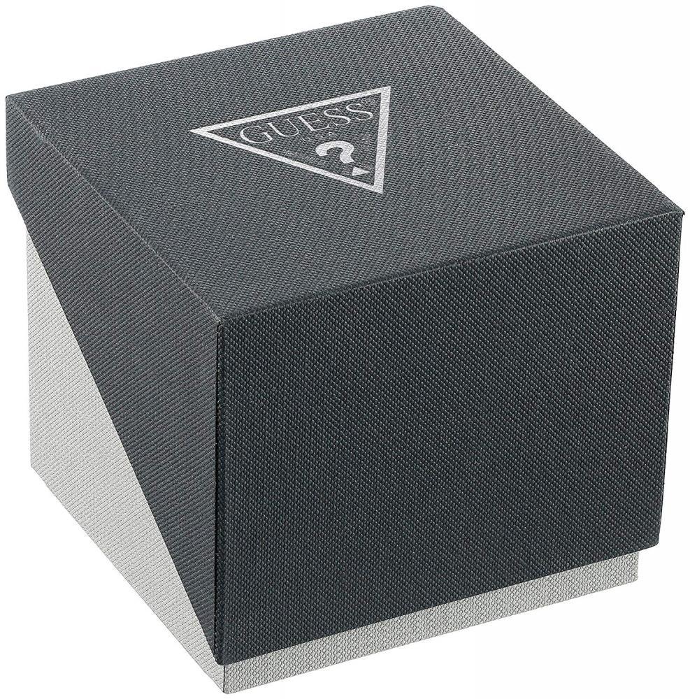 ゲス GUESS 腕時計 レディース GUESS  Comfortable Stainless Steel + White Stain Resistant Silicone Watch with Day, Date + 24 Hour Military/Int'l Time. Color: White (Model: U1160L4)ゲス GUESS 腕時計 レディース