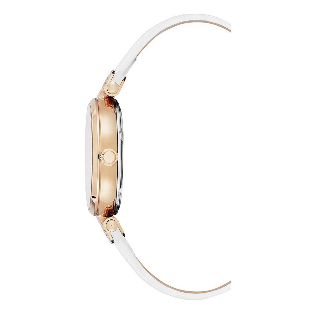 ケネスコール・ニューヨーク Kenneth Cole New York 腕時計 レディース Kenneth Cole New York Women's Transparency Stainless Steel Japanese-Quartz Leather Strap, White, 16 Casual Watch (Moケネスコール・ニューヨーク Kenneth Cole New York 腕時計 レディース
