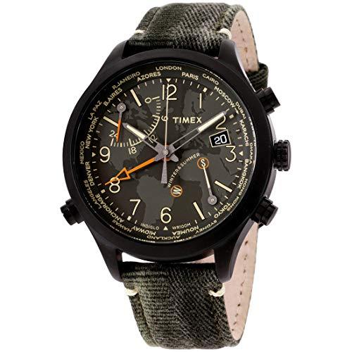 タイメックス 腕時計 メンズ Timex Waterbury World Time Black Dial Canvas Strap Men's Watch TW2R43200タイメックス 腕時計 メンズ