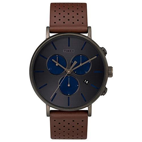 タイメックス 腕時計 メンズ Timex Supernova Fairfield Grey Dial Leather Strap Unisex Watch TW2R80000タイメックス 腕時計 メンズ
