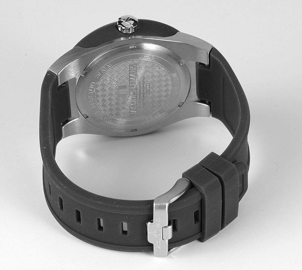 ジャックルマン オーストリア 腕時計 メンズ ケビンコスナー愛用 Jacques Lemans Men's 1-1785A Miami Sport Analog Black Silicone Strap Watchジャックルマン オーストリア 腕時計 メンズ ケビンコスナー愛用