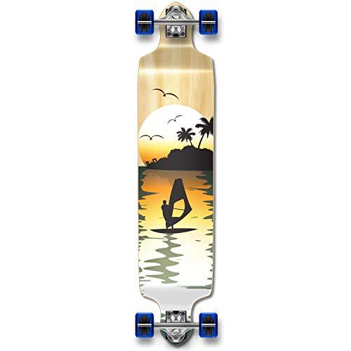 スケートボード, スケートボード本体  Dropdown-NSurfer YOCAHER Professional Speed Drop Down Complete Longboard Skateboard (Natural Surfer) Dropdown-NSurfer