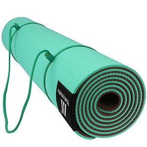 ヨガマット フィットネス Matymats Non Slip TPE Yoga Mat with Carry Strap for Hot Yoga Pilate Gymnastics Bikram Meditation Towel- High Density Thick 1/4'' Durable Mat 72''24'' Eco Safe Non Toxicヨガマット フィットネス