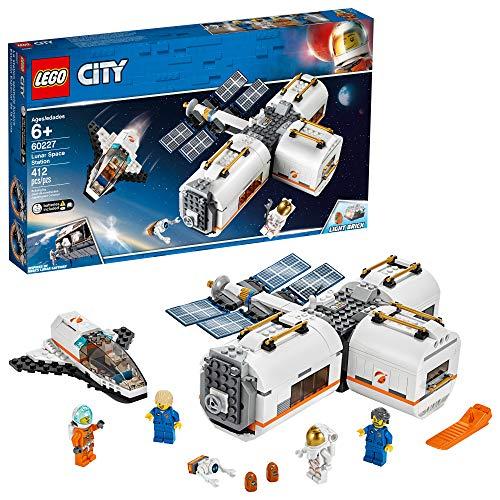ブロック, セット  LEGO City Space Lunar Space Station 60227 Space Station Building Set with Toy Shuttle, Detachable Satellite and Astronaut Minifigures, Popular Space Gift (412 Pieces)