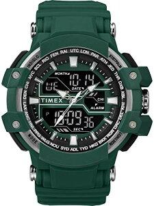 タイメックス 腕時計 メンズ 【送料無料】Timex Men's TW5M22800 DGTL Tactic Big Combo 53mm Marine Green/Gray Resin Strap Watchタイメックス 腕時計 メンズ