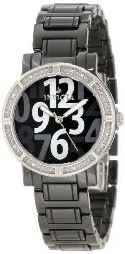腕時計, レディース腕時計  10279 Invicta Womens 10279 Black Ceramic Diamond Accented Watch 10279