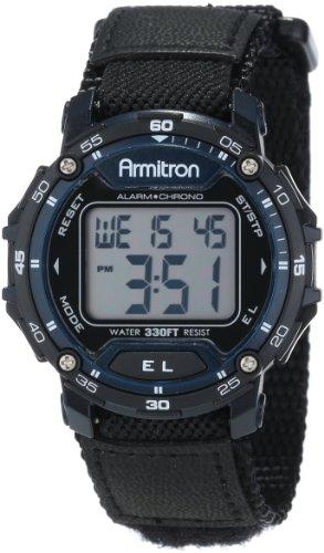 アーミトロン 腕時計 メンズ 40/8291BLU Armitron Sport Unisex 40/8291BLU Navy Blue Accented Digital Chronograph Black Nylon Strap Watchアーミトロン 腕時計 メンズ 40/8291BLU