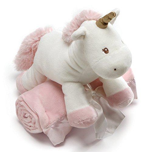 ぬいぐるみ・人形, ぬいぐるみ  Baby GUND Luna Unicorn with Pink Blanket Stuffed Animal Plush, Set of 2, 7