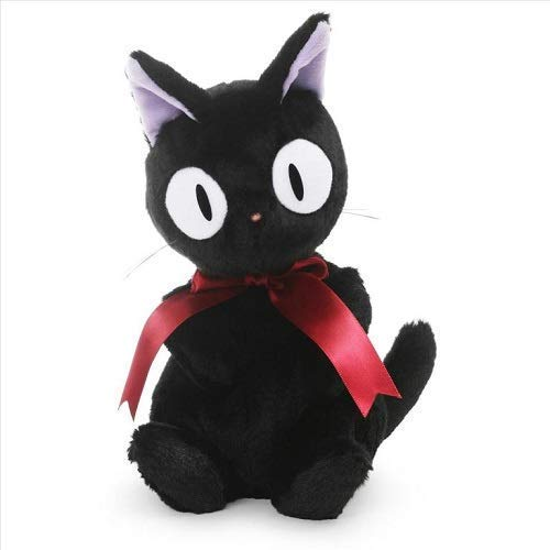 ガンド ぬいぐるみ リアル お世話 かわいい GUND Studio Ghibli 30th Anniversary Jiji Cat Stuffed Animal, Black, 8