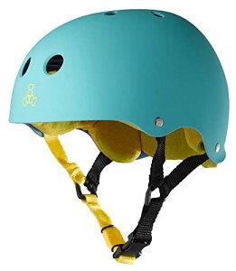 ヘルメット スケボー スケートボード 海外モデル 直輸入 1317 【送料無料】Triple Eight Sweatsaver Liner Skateboarding Helmet, Baja Teal Rubber, Mediumヘルメット スケボー スケートボード 海外モデル 直輸入 1317