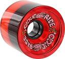 ウィール タイヤ スケボー スケートボード 海外モデル 【送料無料】Cloud Ride Wheels Cruiser Transparent Red Skateboard Wheels - 69.5mm 78a (Set of 4)ウィール タイヤ スケボー スケートボード 海外モデル