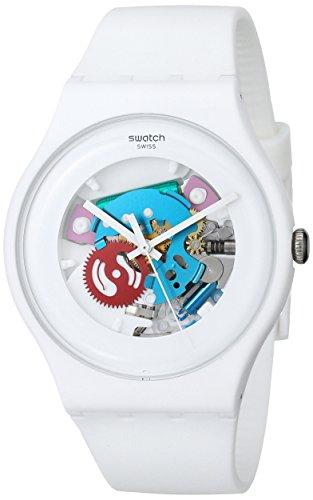 【当店1年保証】スウォッチSwatch White Lacquered Ladies Watch SUOW100