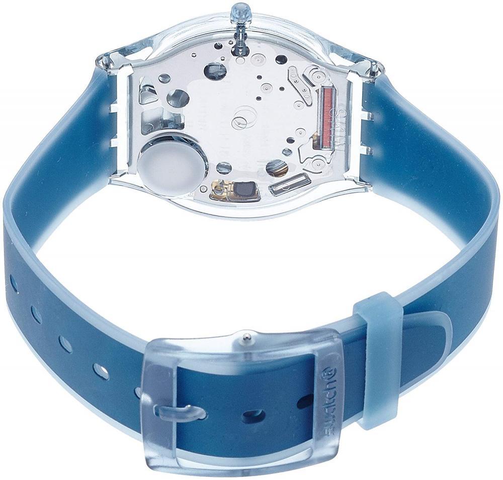 【当店1年保証】スウォッチSwatch Women's SFS103 Skin Analog Display Swiss Quartz Blue Watch