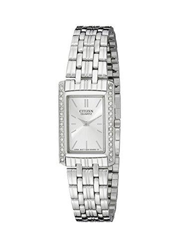シチズン 逆輸入 海外モデル 海外限定 アメリカ直輸入 EK1120-55A Citizen Women's Quartz Crystal Accent Watch, EK1120-55Aシチズン 逆輸入 海外モデル 海外限定 アメリカ直輸入 EK1120-55A