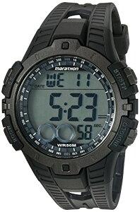 タイメックス 腕時計 メンズ T5K802 【送料無料】Marathon by Timex Men's T5K802 Digital Full-Size Black/Gray Resin Strap Watchタイメックス 腕時計 メンズ T5K802