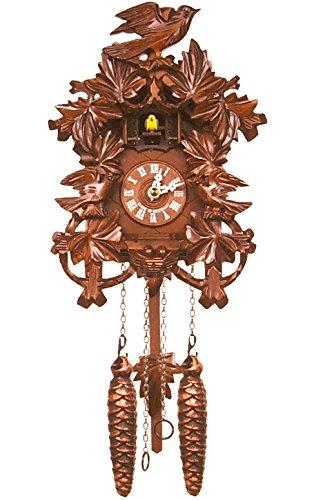 置き時計・掛け時計, 掛け時計  Alexander Taron Importer 625Q Engstler Battery-Operated Cuckoo Clock - Full Size - 9.25 H x 7.5 W x 6 D, White