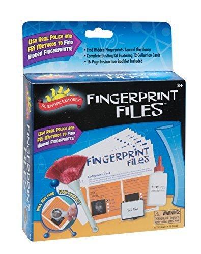 サイエンティフィックエクスプローラー 知育玩具 化学 科学 教育 Scientific Explorer Fingerprint Files Kit by Scientific Explorerサイエンティフィックエクスプローラー 知育玩具 化学 科学 教育