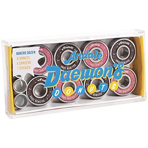 パーツ, ベアリング  Andale Daewon Song Donut Box Skateboard Bearings (8 PC)