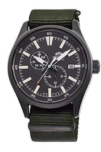 腕時計, メンズ腕時計  ORIENTDefender 2 Sports Automatic Black IP Military Green Nylon Watch RA-AK0403N