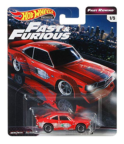 乗り物のおもちゃ, その他  Hot Wheels Fast Rewind Fast Furious Mazda RX 3 15, red