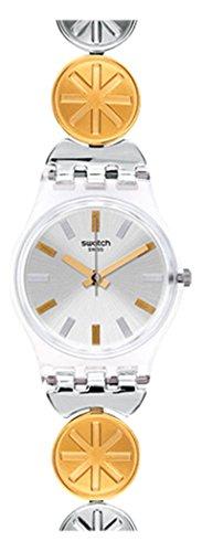 【当店1年保証】スウォッチSwatch Women's Originals LK348G Silver Stainless-Steel Quartz Watch