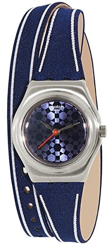 【当店1年保証】スウォッチSwatch Women's Irony YSS290 Blue Leather Swiss Quartz Watch