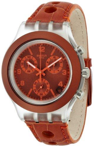 【当店1年保証】スウォッチSwatch Unisex SVCK4073 Rouille Analog Display Quartz Brown Watch