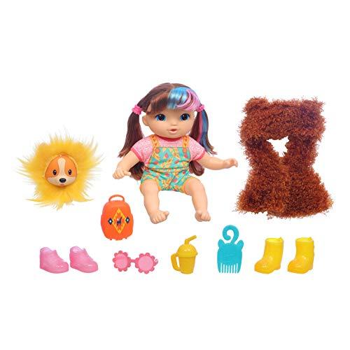 ままごと・ごっこ遊びトイ, その他  Baby Alive Littles, Fantasy Styles Squad Doll, Little Harlyn, Safari Accessories, Straight Brown Hair Toy for Kids Ages 3 Years and Up (Amaz
