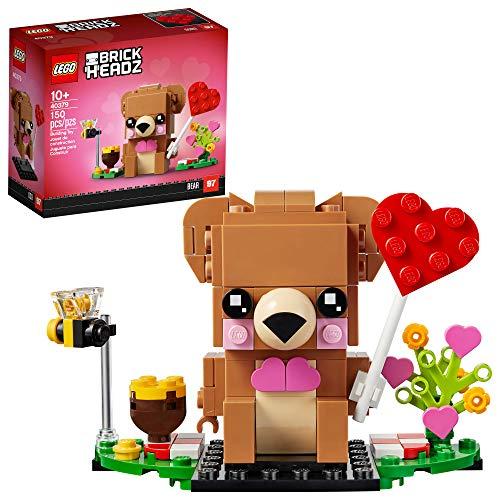 知育玩具・学習玩具, 知育パズル  LEGO BrickHeadz Valentines Bear 40379 Building Kit, New 2021 (150 Pieces)