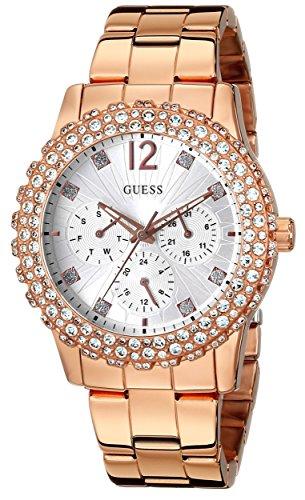 ゲス GUESS 腕時計 レディース U0335L3 GUESS Women's U0335L3 Rose Gold-Tone Multi-Function Watch with Genuine Crystal Accented Caseゲス GUESS 腕時計 レディース U0335L3