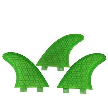 サーフィン フィン マリンスポーツ 【送料無料】Topways Fiberglass Reinforced + Honeycomb Surfboard Fins (3), Tri/Thruster Fins Set FCS G5 G7 Style Future Fins (Green, G7)サーフィン フィン マリンスポーツ
