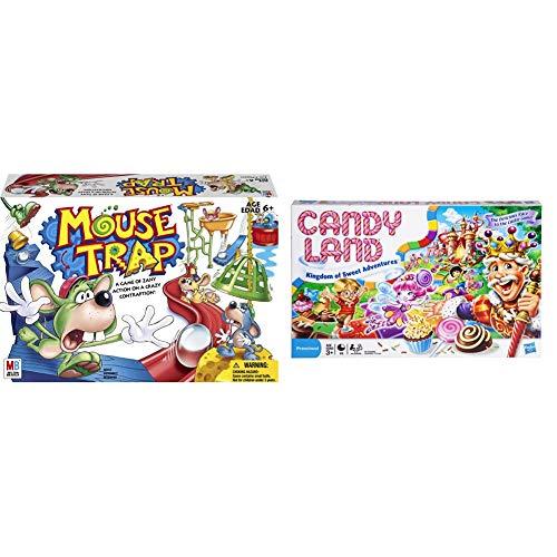 ファミリートイ・ゲーム, ボードゲーム  Hasbro Gaming Mouse Trap Board Game for Kids Ages 6 and Up (Amazon Exclusive) Gaming Candy Land Kingdom of Sweet Adventures Board Game for Kids Ages 3 U