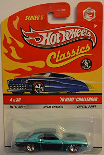 乗り物のおもちゃ, その他  Hot Wheels Compatible 70 Hemi Challenger Green 4 of 30 Special Paint HW Classics Series 5 1:64 Scale Collectible Die Cast Model Car